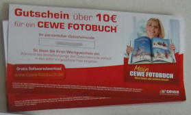 Gutscheine CeWe Fotobuch 10Euro kostenlos