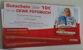 Gutscheine CeWe Fotobuch 10Euro kostenlos