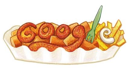 Das Google Doodle zum Geburtstag der Currywursterfinderin. Bildquelle: Google
